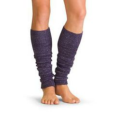 Sparkle Knit Leg Warmer - Top off your tights in the cool studio with these soft legwarmers that glitter with metallic threads.