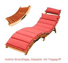 Gartenliege Sonnenliege Holz Klappbar Relaxliege Gartenmöbel Rasso In  Garten U0026 Terrasse, Möbel, Liegen | EBay | PISCINA | Pinterest