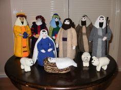 Hand knit traditional Nativity scene. £50.00, via Etsy.