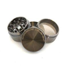 "Chromium Crusher Mini Series: 1.5"" 4 Piece Tobacco Spice Herb Pocket Grinder w/ Lifetime Warranty (Gun Metal, Zinc) - http://spicegrinder.biz/chromium-crusher-mini-series-1-5-4-piece-tobacco-spice-herb-pocket-grinder-w-lifetime-warranty-gun-metal-zinc/"