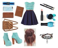 """blue #1"" by fun-filled-woodrow ❤ liked on Polyvore featuring Jeffrey Campbell, FOSSIL, Bling Jewelry, ORLY, Monica Rich Kosann, Vera Bradley, Manic Panic and Yves Saint Laurent"