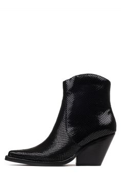 CHAVEZ Booties in Black Shiny