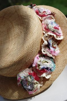 Rustic and Floral Style Hat