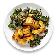 Mark Bittman's roasted squash with kale - because I rarely cook squash and I've never baked kale.