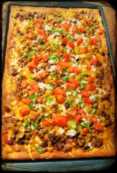 Nailed it! Pizza One, Taco Pizza, Mexican Food Recipes, Dinner Recipes, College Meals, Food Lists, Lunch Ideas, Vegetable Pizza, Food Food
