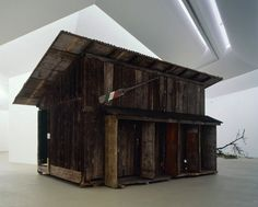 Simon Starling ShedBoatShed . A shed that becomes a boat that becomes a shed