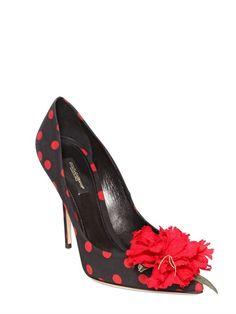 105MM BELLUCCI SILK CHARMEUSE PUMPS Dolce & Gabbana
