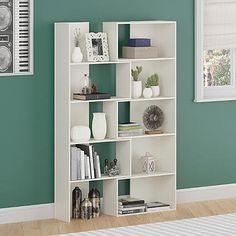 Dorel Home Furnishings White Stipple Expandable Bookcase
