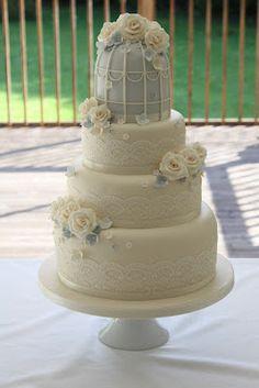 Birdcage wedding cake.  www.facebook.com/TiersTiaras