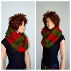 Infinity Scarf/ Christmas Infinity Scarf/ Crochet by Africancrab