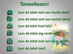 Toneel lezen is leuk voor kinderen. Maak daar gebruik van. Laat in tweetallen oefenen om hun stem op verschillende manieren te gebruiken. Je reinste leestechniek natuurlijk, maar zo voelt het niet voor kinderen. Voor de échte leespromotie zorg je natuurlijk voor wat toneelleesboeken in de klas. http://www.zwijsenouders.nl/web/file?uuid=a2b5590f-8f28-44ac-af74-6f644853dcaf&owner=a73e43cf-999f-4aac-8a5a-6a4d2e6268ca