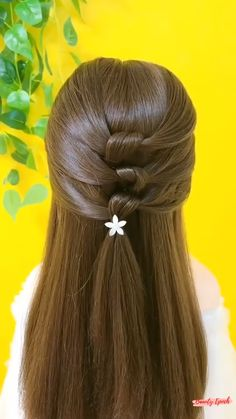 Braided Hairstyles For Teens, Cool Hairstyles For Girls, Different Hairstyles, Girl Hairstyles, Simple Hairstyle Video, Cute Simple Hairstyles, Hair Up Styles, Simple Girl, Braids For Long Hair