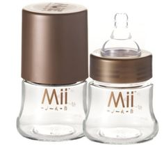 Mii 4oz Glass Nurser Bottle 0-24 Months Pack Of 2 by Mii Company Llc.