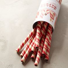 Williams-Sonoma Chocolate Peppermint Rolled Wafers #williamssonoma
