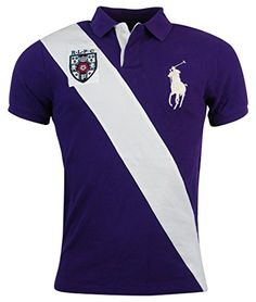 c5a73a0dba Polo Ralph Lauren Mens Custom Fit Big Pony Mesh Polo Shirt - XL -  Purple White