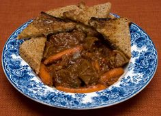 *** Mahogany Beef Stew: Favorite beef stew recipe so far! Made it in the slow cooker (6 - 6 1/2 hrs on low). Used a little more beef than the recipe called for, only half the hoisin and 1 cup of wine (subbed beef broth for the other cup). Oh, also used 2 cloves of garlic and added about 5 medium potatoes, peeled and cut into large cubes. Freezes GREAT and tasted even better days later.