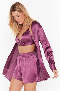 Cute Sleepwear, Satin Sleepwear, Satin Pajamas, Sleepwear Women, Nightwear, Pyjamas, Satin Pyjama Set, Textiles Y Moda, Pijamas Women