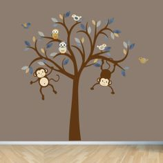 Monkey Wall Decals Nursery Wall Decals Boy by StickItDecalDesigns, $105.00
