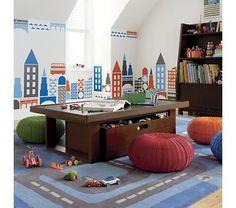 Inspiração: mesmo que na dispensa e sem todo o requinte, crie um quarto de brincadeiras para o seu filho nestas férias. ;)