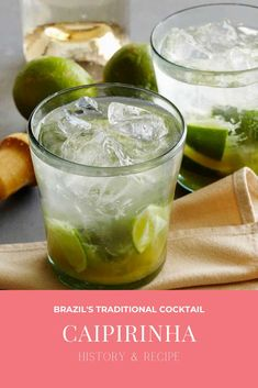 Caipirinha - history and recipe Caipirinha Cocktail, Famous Beaches, Brazil Travel, Refreshing Cocktails, Beaches In The World, Being A Landlord, Traditional, History, Recipes