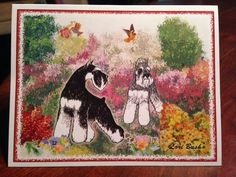 A personal favorite from my Etsy shop https://www.etsy.com/listing/222411333/summer-profusions-schnauzer-notecard