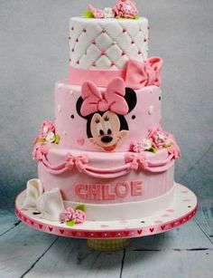 This week's theme is 'Minnie Mouse Cakes', and what an adorable, cute and beautiful collection it is! Please feel free to add any of your Minnie Mouse cakes below and congratulations to all the members featured – I love them all! Bolo Da Minnie Mouse, Fondant, Birthday Cake, Desserts, Cakes, Food, Type 3, Cake Ideas, Facebook