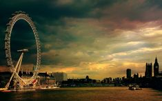 Vintage London Eye HD Wallpaper