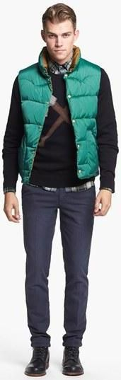 Perfect quilted vest for every man's fall wardrobe.