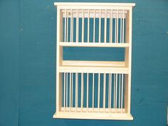 Double Deluxe Wood plate dish cup cabinet rack shelf by holliwalt, $129.99