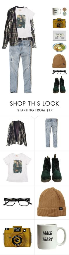 """""""PL4NTS ARE THE 0NLY THINGS THAT LIKE U"""" by tangled-in-fairylights ❤ liked on Polyvore featuring Burkman Bros., Hollister Co., PAM, Dr. Martens, O'Neill, GET LOST, Holga, men's fashion and menswear"""