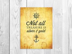 Pirate Quote Nautical Print Nursery Quote Art by ...