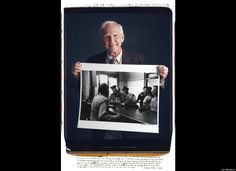 Photographers pose with their famous photos - Charles Moore