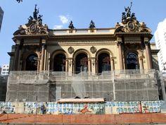 Restauração do Teatro Municipal   de São Paulo chega à reta final
