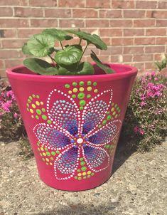 Plants Painting Flower Terra Cotta 61 Ideas For 2019 Flower Pot Crafts, Clay Pot Crafts, Diy Flower, Flower Ideas, Painted Plant Pots, Painted Flower Pots, Flower Pot Design, Pot Plante, Plant Painting