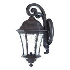 The Acclaim Lighting Waverly Collection Wall-Mount Outdoor Black Coral Light Fixture is made of non-rusting cast aluminum for durability. It features hand-blown clear seeded glass. It compliments many different architectural styles. Outdoor Wall Mounted Lighting, Outdoor Sconces, Outdoor Wall Lantern, Outdoor Walls, Outdoor Lighting, Wall Mount Light Fixture, Light Fixtures, Home Depot, Coral Walls