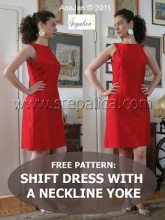 Lilly shift dress pattern potm so sew easy.