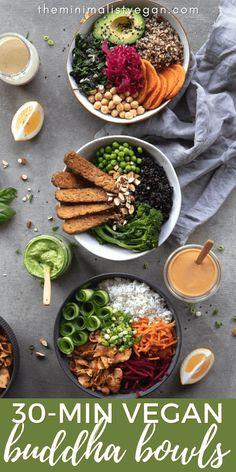 Tempeh, Tofu, Eat The Rainbow, Buddha Bowl, Delicious Vegan Recipes, Quinoa, Whole Food Recipes, Food To Make, Meal Prep