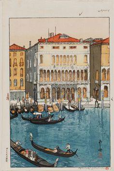 「ヴェニスの運河 欧州シリーズ」Canal in Venice, Europe Series - 大正14(1925)年