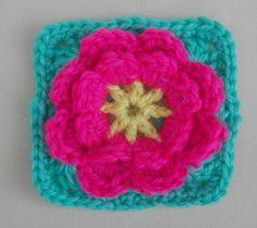 flower granny square pattern & more