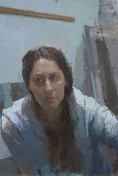 Carolyn Pyfrom, Self-portrait, painting. Painting People, Figure Painting, Painting & Drawing, Photo Portrait, Portrait Art, Portrait Paintings, Florence Academy Of Art, Figurative Kunst, Art Academy