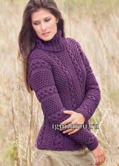 manual | Articole din categoria manual | Blogul-Lude mila_T: LiveInternet - Serviciul Rusă Online Zilnice Thick Sweaters, Hand Knitted Sweaters, Merino Wool Sweater, Girls Sweaters, Cardigans For Women, Knitting Designs, Knitting Patterns Free, Hand Knitting, Free Pattern
