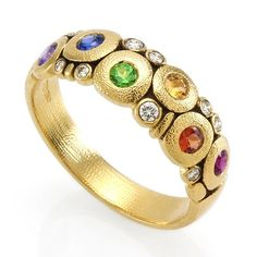 Alex Sepkus Fancy Sapphire and 18K Gold Ring R-122