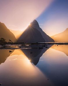 The craziest light Ive ever seen at Milford Sound Photo by Monuments, Landscape Photography, Travel Photography, Canon Photography, Photography Photos, Lifestyle Photography, Nature Photography, Amazing Places On Earth, Wonderful Places