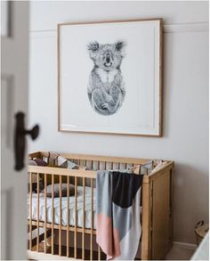 the boo and the boy: kids' rooms on instagram | gender neutral nursery ideas | white nursery with natural wooden crib
