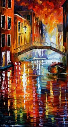 The Canals Of Venice - Leonid Afremov
