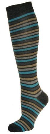 Cute Knee High Socks Striped Grey Top (Size 9-11) Yelete. $7.95