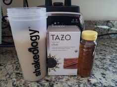 This is a great recipe with Vanilla Shakeology especially if you love tea and need a boost of caffeine with your shake! Ingredients 1 scoop of Vanilla Shakeology 1 cup brewed Chai Tea, cooled 1 tsp honey ice sprinkle of cinnamon Directions Mix in blender and Enjoy!  Share this: