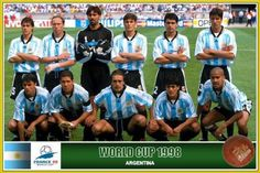 1998 Argentina Argentina Football Team, Argentina Team, Argentina National Team, Football Team Pictures, Fifa World Cup France, Football Mondial, World Cup Teams, Fan Picture, World Football