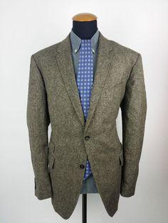Veste Pierre Cardin Blazer Homme 56 Slim Yorkshire Tweed Jacket 46R UK Hunting #Blazers