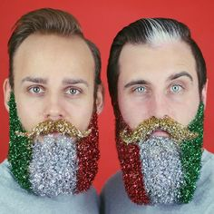 festive glitter beard anyone 12gaybeardsofchristmas beards christmas holidays beard - Christmas Beard